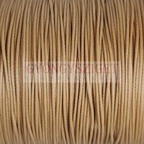 Viaszolt textilszál - világos barna - 0.5mm