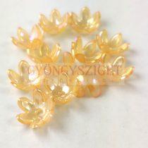 Műanyag virág- Peach AB - 13x7mm