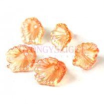 Műanyag virág - Peach AB - 12x10mm