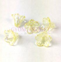 Műanyag virág - Light Jonquil AB - 11x14mm
