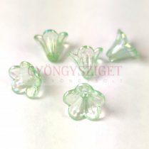 Műanyag virág - Light Turquoise Green AB - 11x14mm