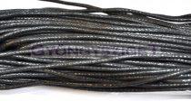 Viaszolt textilszál - fekete-2mm