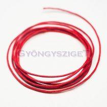 Viaszolt textilszál - piros