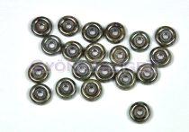 Wheel - Czech Glass Bead - green-brown marble -6mm
