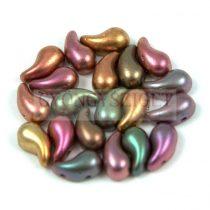Zoliduo cseh préselt 2lyukú gyöngy - Matte Metallic Bronze Iris - 5x8mm - BALOS