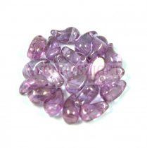 Zoliduo cseh préselt 2lyukú gyöngy - crystal vega luster- 5x8mm - BALOS