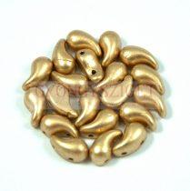 Zoliduo cseh préselt 2lyukú gyöngy - aztec gold - 5x8mm - BALOS