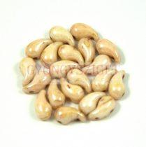 Zoliduo cseh préselt 2lyukú gyöngy - alabaster picasso luster - 5x8mm - BALOS