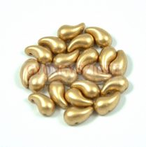 Zoliduo cseh préselt 2lyukú gyöngy - aztec gold - 5x8mm - JOBBOS