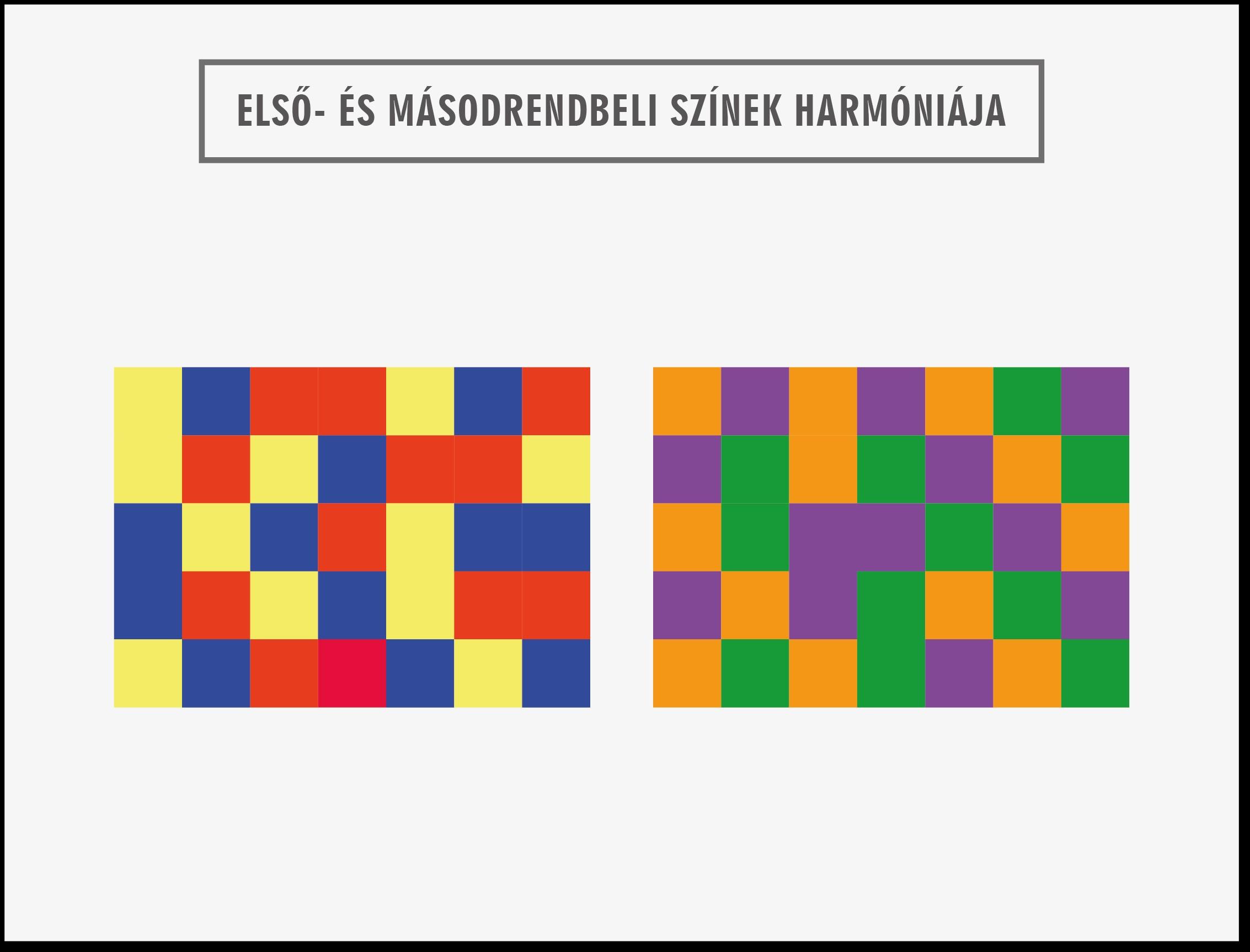 Elsőrendű-másodrendű színek kombinációja