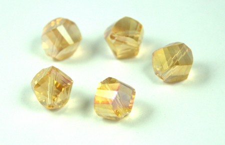 Helix Shaped Faceted Crystal Bead - 11mm
