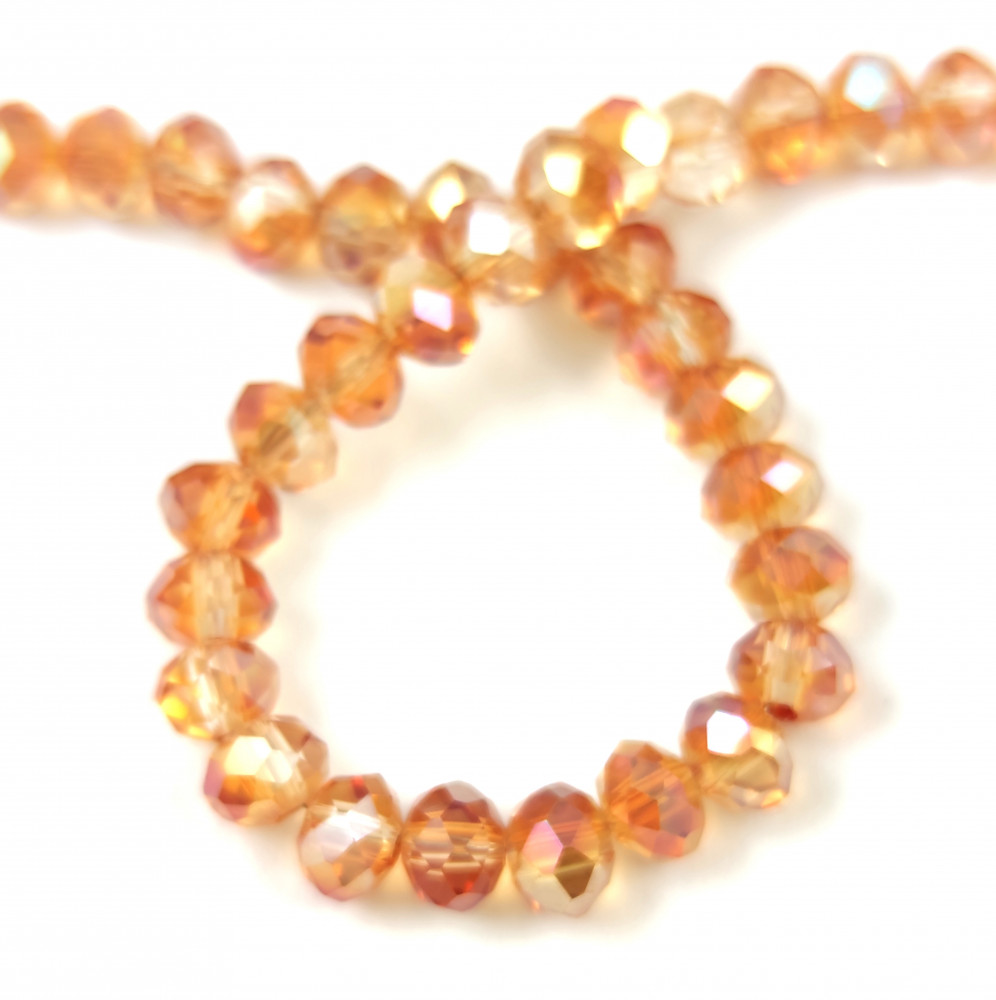 Doughnut shaped faceted crystal bead