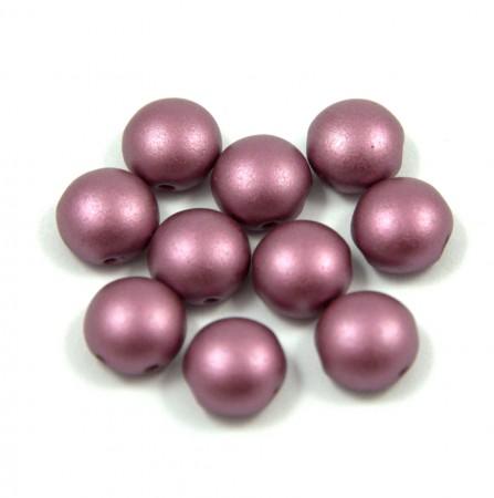 Candy - Cseh préselt kétlyukú gyöngy - 8mm
